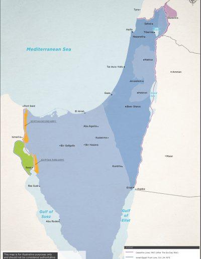 1973 Yom Kippur War ceasefire lines